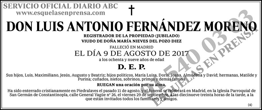 Luis Antonio Fernández Moreno